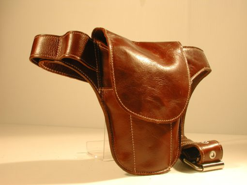 The Brown Leather Mini