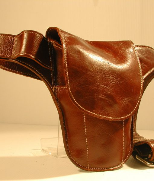 The Brown Leather Mini