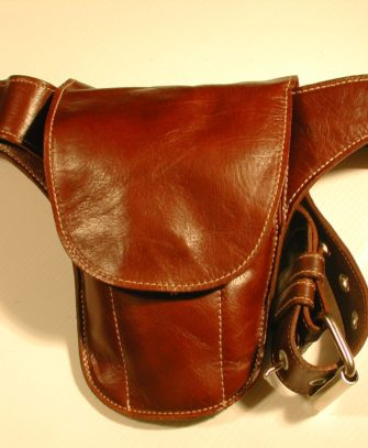 soft and stylish Brown Leather Mini Holster